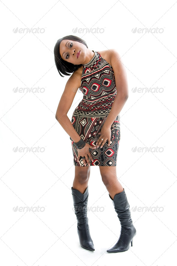 Funky 70s woman - Stock Photo - Images