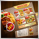 Fast Food Double Sided Flyer 4 in 1 - GraphicRiver Item for Sale