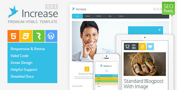 Increase – Premium Corporate HTML5 Template