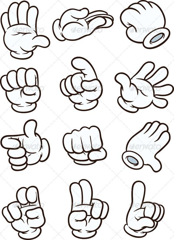 Cartoon Hands By Memoangeles Graphicriver
