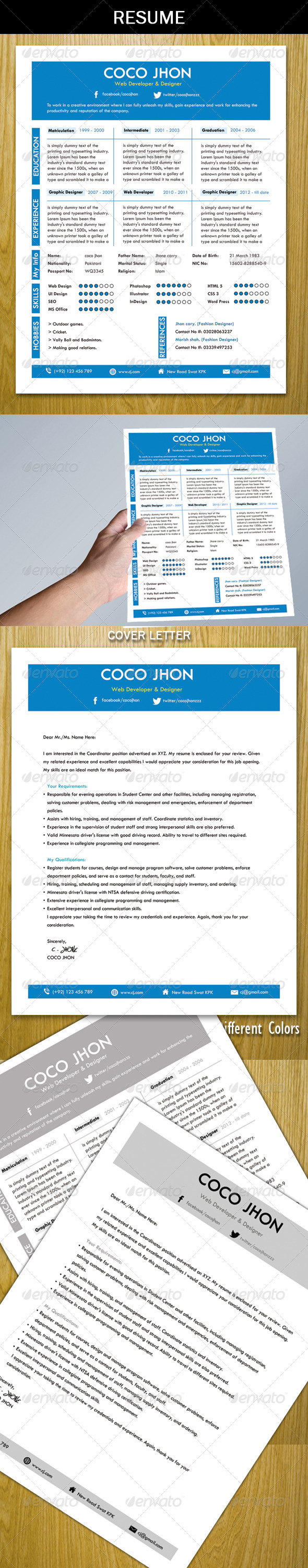 Resume+Cover Letter - Resumes Stationery