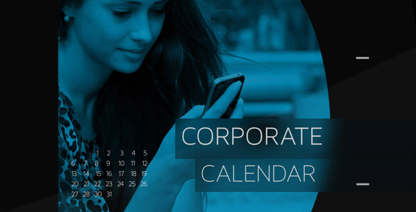 Corporate Calendar Template : Corporate calendar timeline by fluxvfx videohive