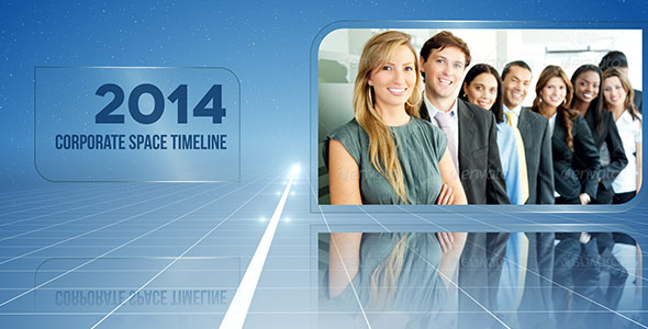 Corporate Space Timeline By Doru VideoHive - After effects timeline template free