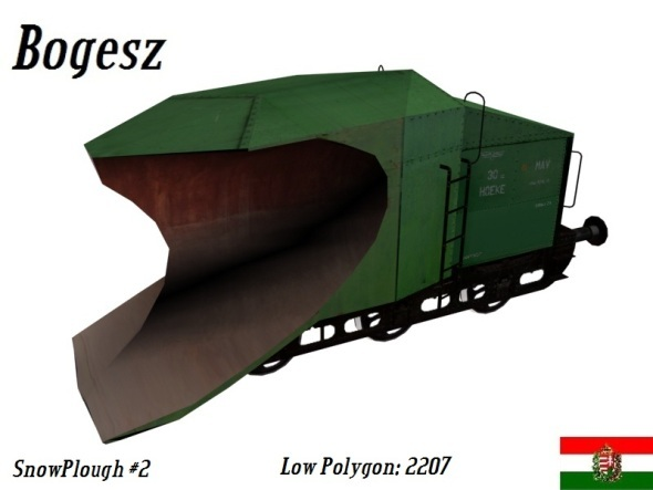 Textured SnowPlough (Low Poly) - 3DOcean Item for Sale