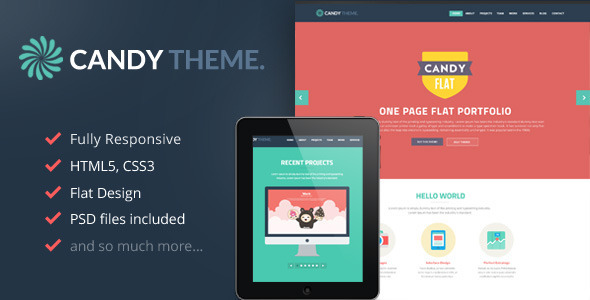 Candy – Flat Onepage Responsive HTML5 Template