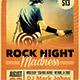 Rock Night Grunge Flyer - GraphicRiver Item for Sale