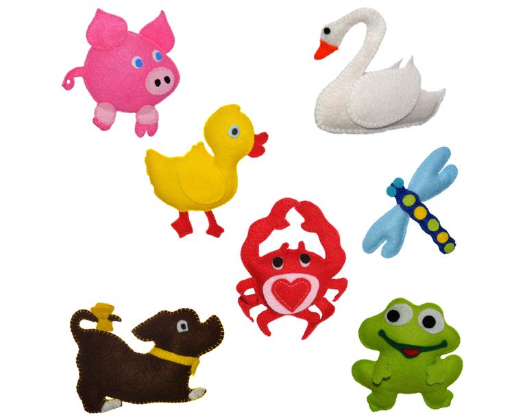 Baby mobile - felt toys