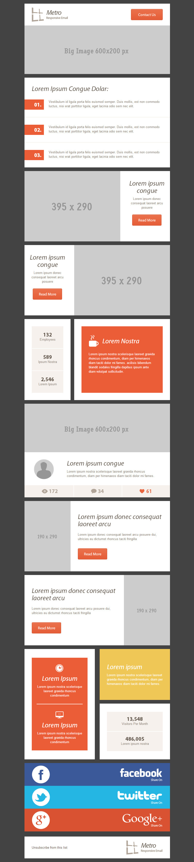 54 General Metro Email Templates - Dark / Light by robbiewilliams ...