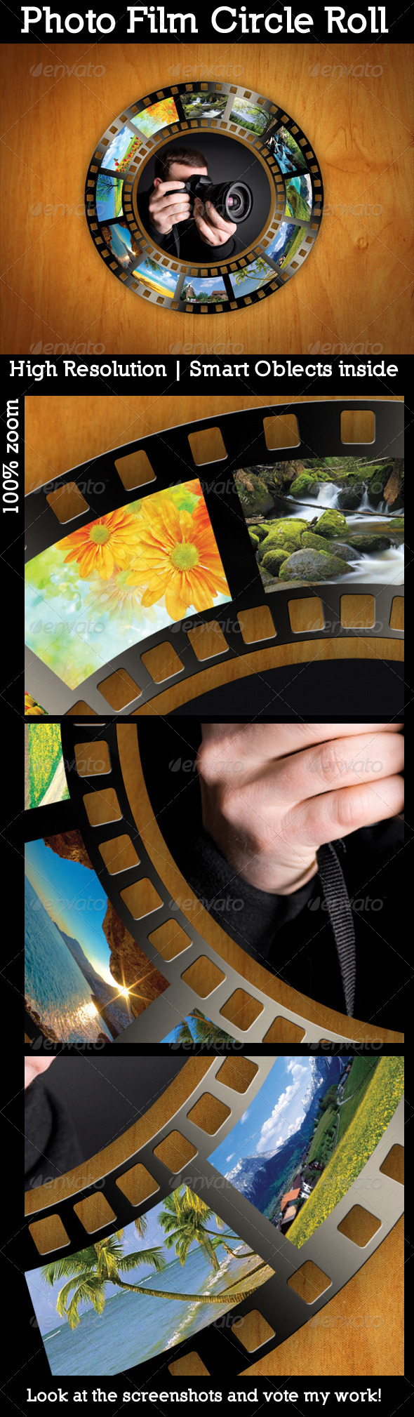 Photo Film Circle Roll - Miscellaneous Photo Templates