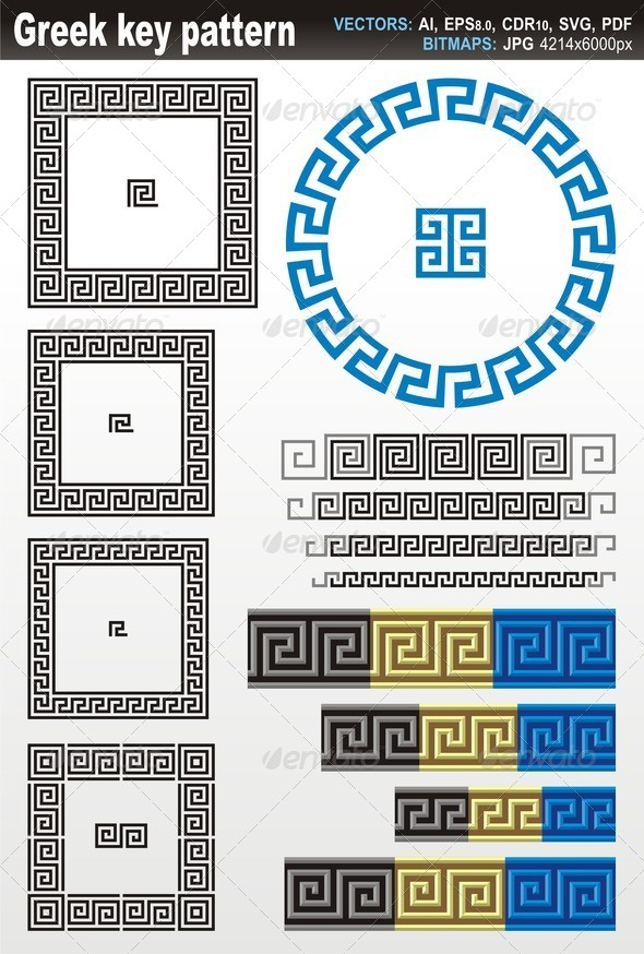 Greek Key Pattern by fractalgr | GraphicRiver