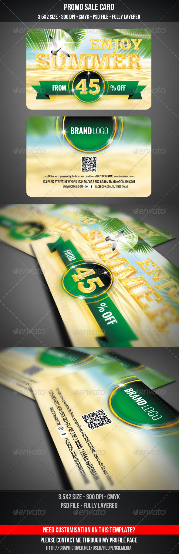 Summer Sale Card by REDPENCILMEDIA   GraphicRiver