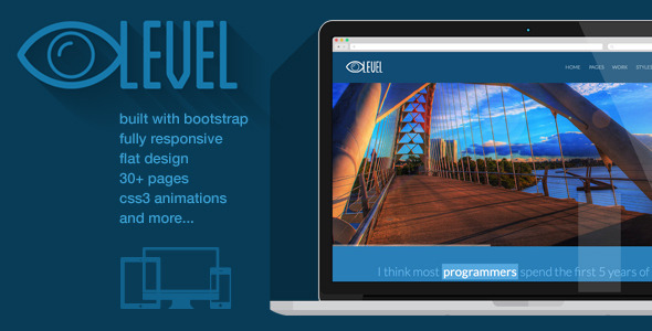 iLevel – Responsive Flat Design Bootstrap Template