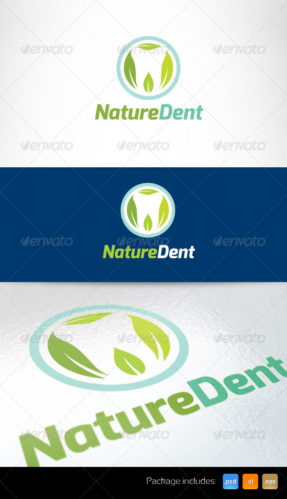 Nature Dent Care Logo Template - Humans Logo Templates