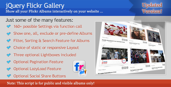 jQuery Flickr Gallery - CodeCanyon Item for Sale