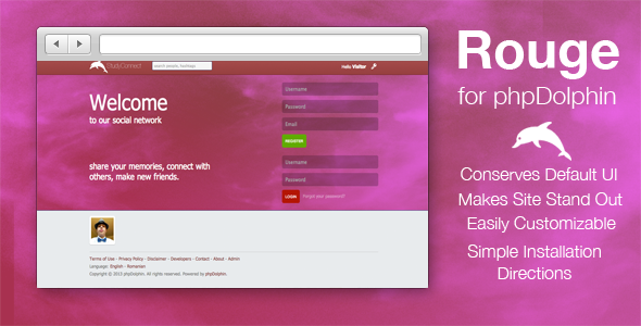 Rouge Skin for phpDolphin - CodeCanyon Item for Sale