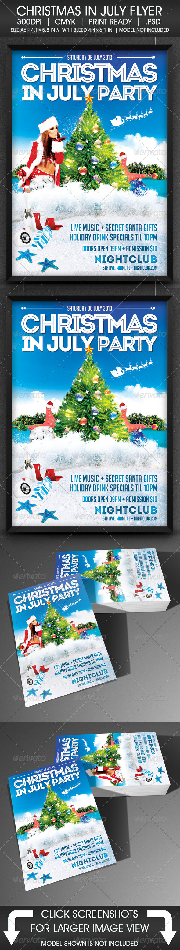 Christmas In July Flyer by ViralLegacy GraphicRiver