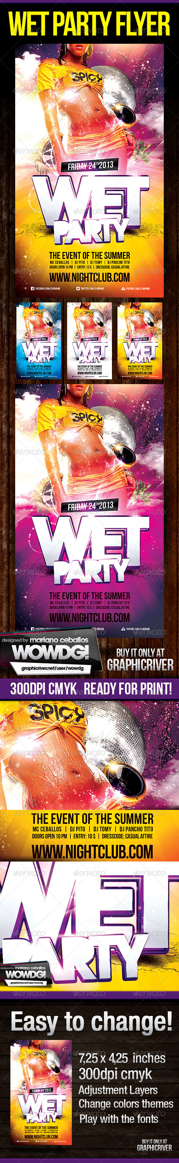 Wet Party Flyer - Clubs & Parties Events