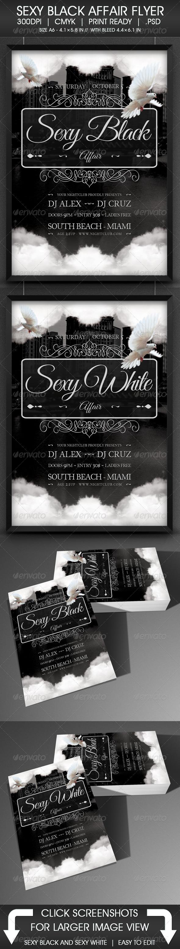 Sexy Black Affair Flyer - Events Flyers