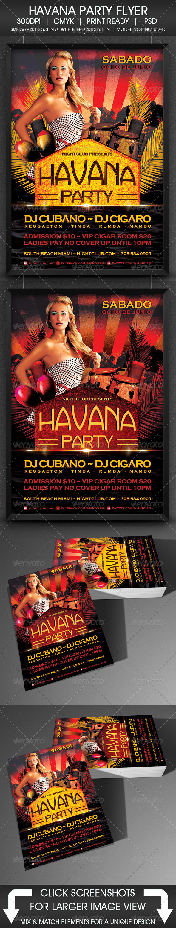 Havana Party - Events Flyers