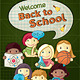 School Concept Illustration with Kids - GraphicRiver Item for Sale