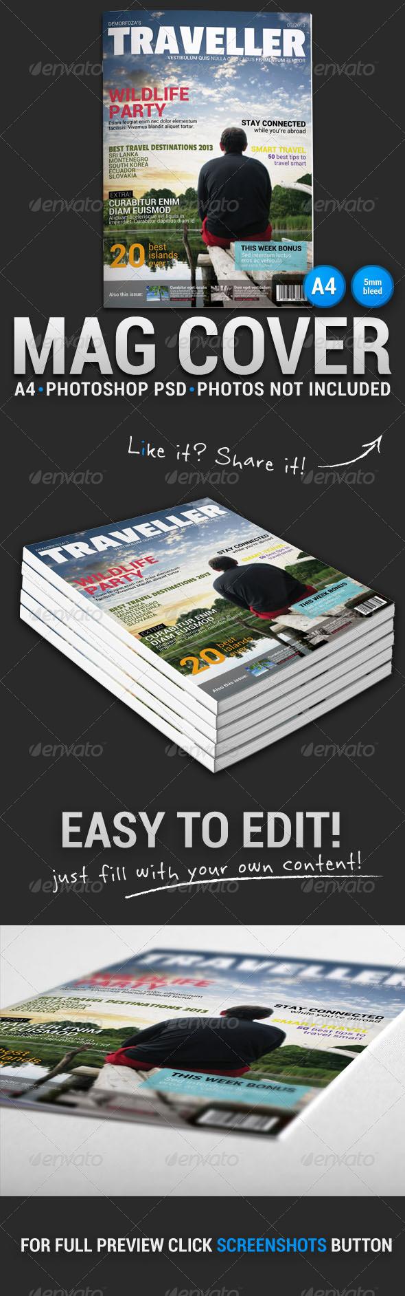 Magazine Cover 1 - Magazines Print Templates