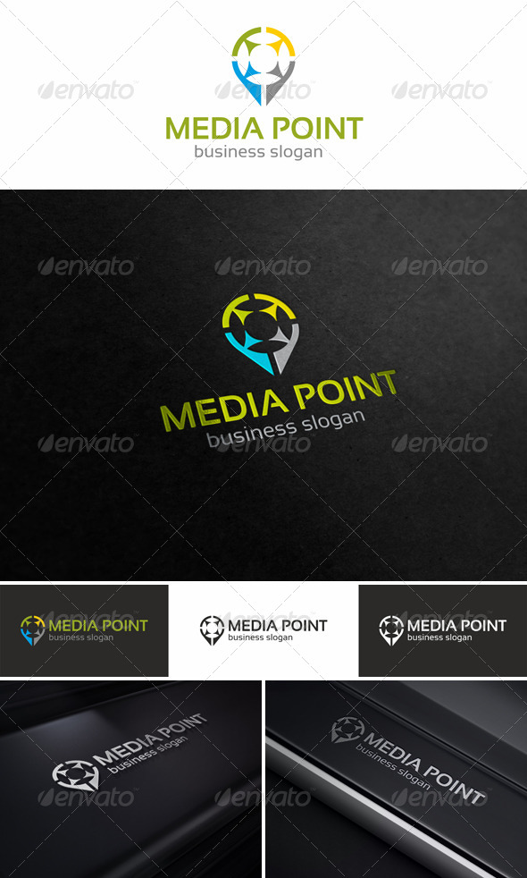 Media Point Logo Template - Objects Logo Templates