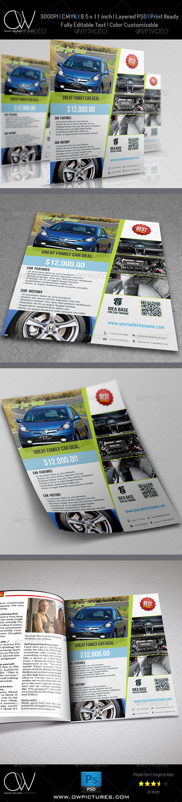 Car for Sale Flyer - Corporate Flyers