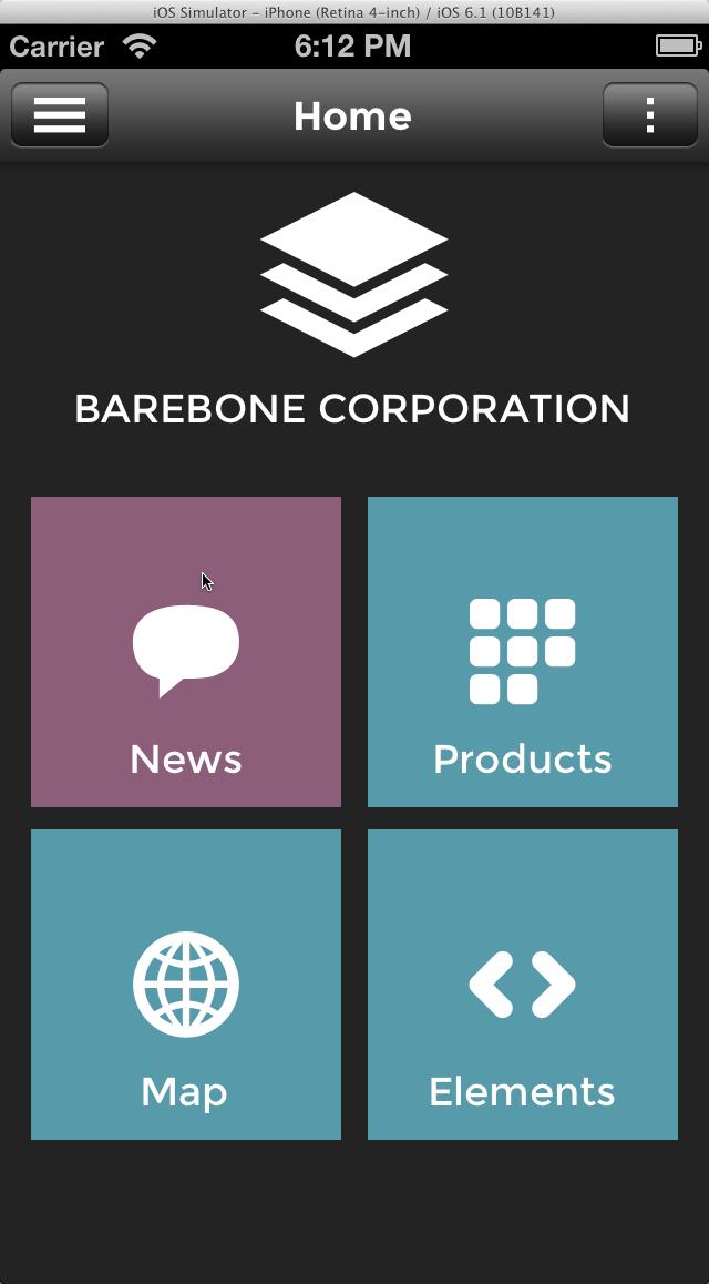 Barebone App  Full Application