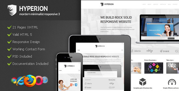 Hyperion - Modern Minimalist Responsive 3 - Corporate Site Templates