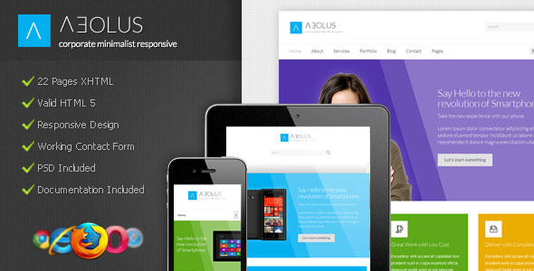 Aeolus - Corporate Minimalist Responsive - Corporate Site Templates