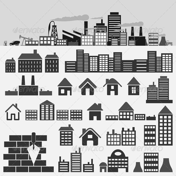 House icons4 - Buildings Objects
