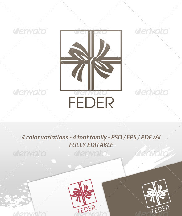Feder Classic logo - Symbols Logo Templates