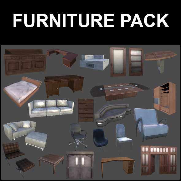 Furniture Pack - 3DOcean Item for Sale