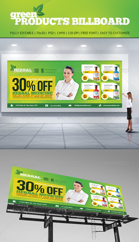 Product Billboard - Signage Print Templates