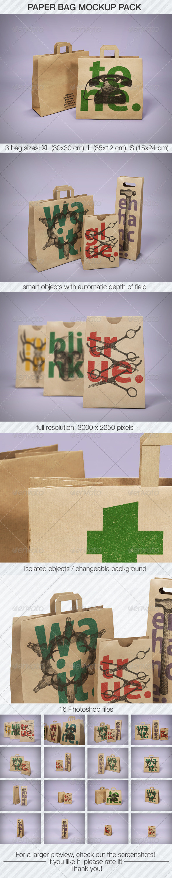 Paper Bag Mockup Pack - Miscellaneous Packaging