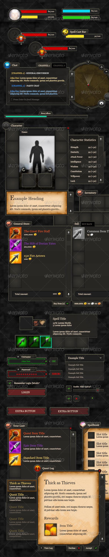 RPG User Interface Bundle - User Interfaces Web Elements