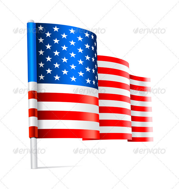 Flag USA - Travel Conceptual
