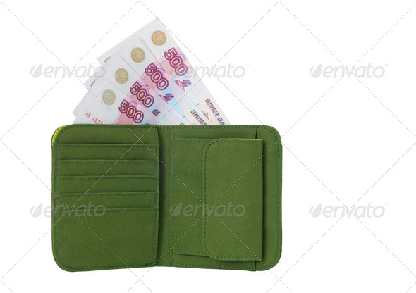 Wallet With Money - Stock Photo - Images