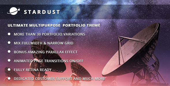 Stardust – Multi-Purpose Portfolio WordPress Theme