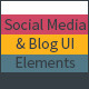 Social Media & Blog UI Elements - GraphicRiver Item for Sale