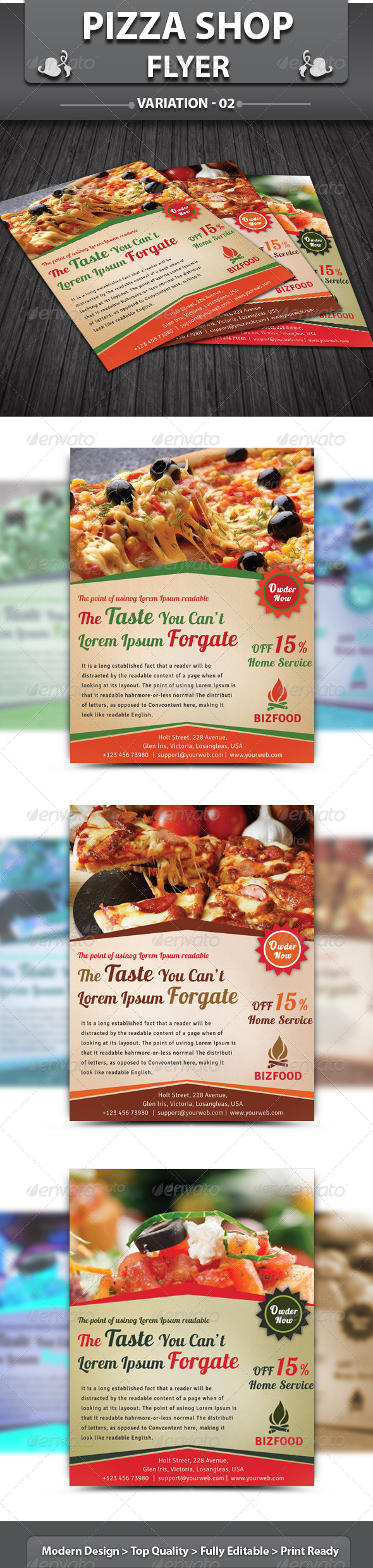 Restaurant Business Flyer | Volume 10 - Restaurant Flyers