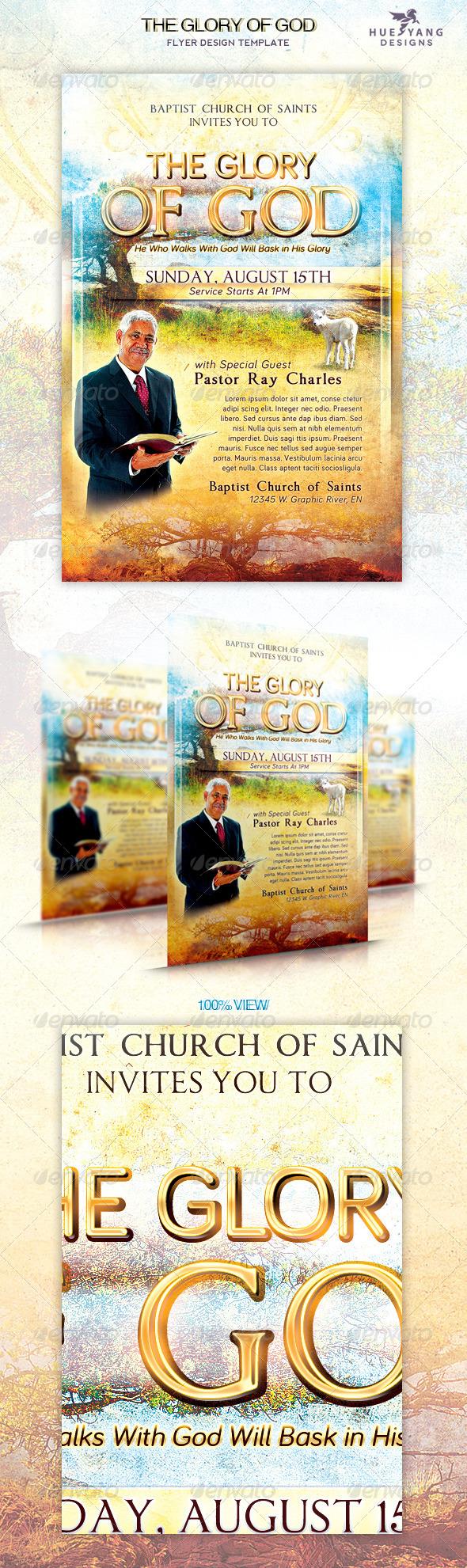 Glory of God Church Flyer - Church Flyers