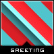 Happy Holiday Stripe - Greeting Card - GraphicRiver Item for Sale