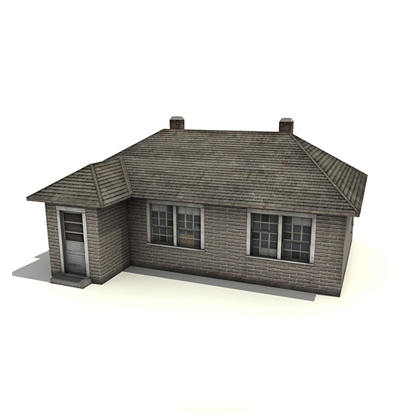 Brick House Building - 3DOcean Item for Sale