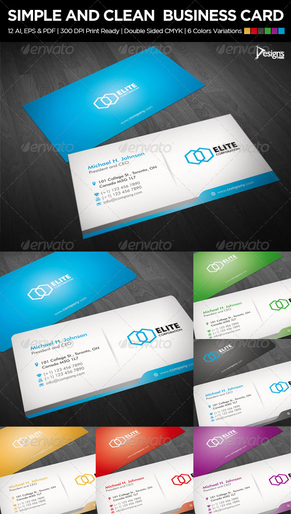 Business Card 1 - Business Cards Print Templates