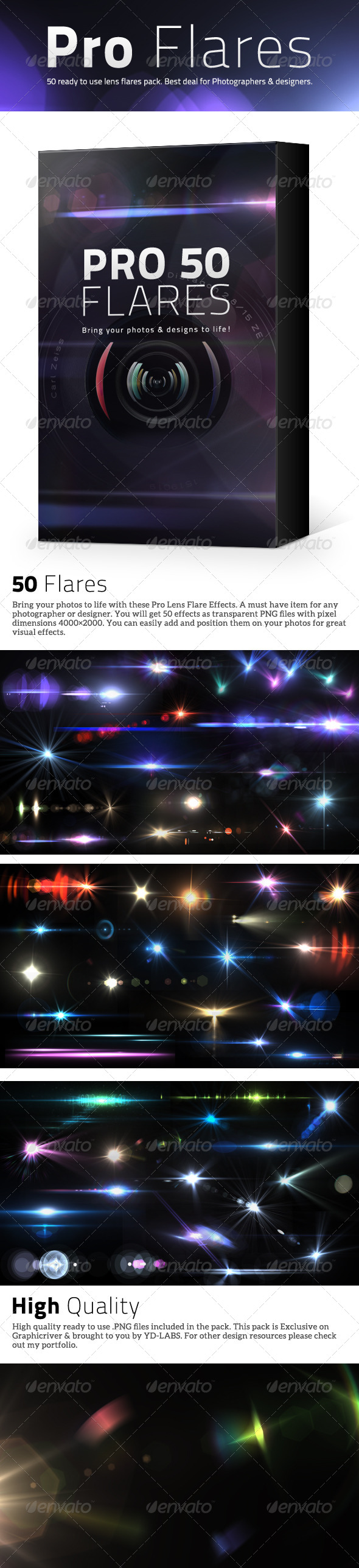 Throw Pillows Vs Lens Flare : 50 Pro Lens Flares V2 by ydlabs GraphicRiver