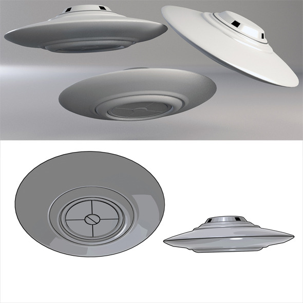 Ufo Classic Flying Saucer 01 - 3DOcean Item for Sale