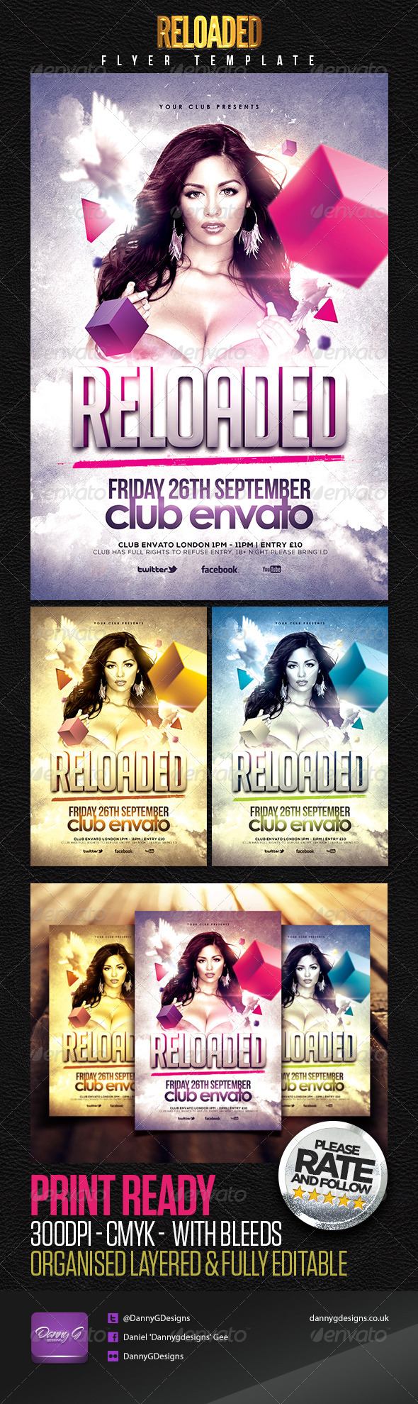 Reloaded Flyer Template - Clubs & Parties Events