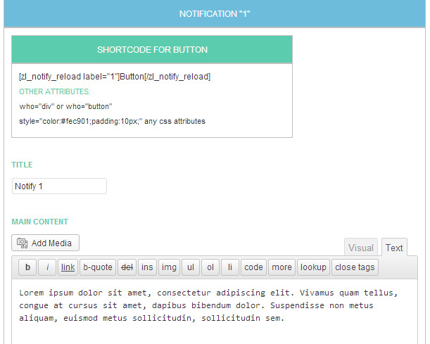 Smart Notification Reload | WordPress Plugin