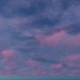 Pink Blue Clouds Floating Blue Sky - VideoHive Item for Sale